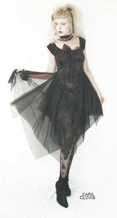 Asymetric chiffon dress