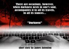 Darkness: new short story by James Antoniou Nests, Free Reading, Short Stories, Author, Dark, Books, Movie Posters, Libros, Film Poster