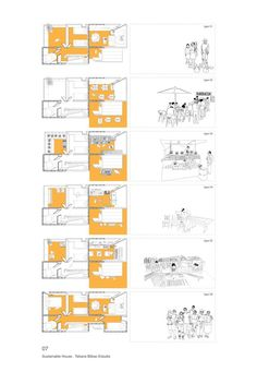 for the chicago architecture biennial, tatiana bilbao has developed a project whose objective is to create an affordable house with good spatial qualities. Social Housing Architecture, Architecture Student, Architecture Drawings, Architecture Design, Chinese Architecture, Futuristic Architecture, Bilbao, Interior Design Chicago, Interior Design Presentation