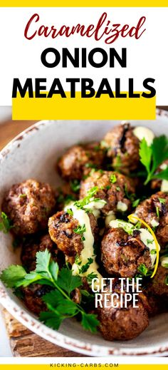 You are going to love these healthy ground beef air fryer meatballs! Caramelized onions add a pop of taste and texture, and fresh herbs keep the flavors bright. Use them as an appetizer or main dish! Easy Protein Pancakes, Tasty Pancakes, Almond Flour Pasta Recipe, Healthy Ground Beef, Breakfast Recipes, Dinner Recipes, Easy Weeknight Dinners, Beef Dishes, Recipe Today