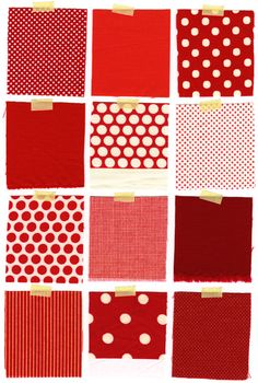 A beautiful color story from inchmark. perfect polka dots.