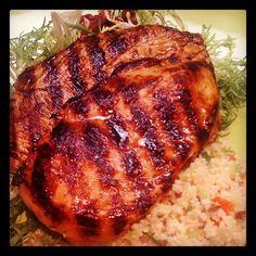 Beautiful Orange glazed Grilled Chicken #SundaySupper @cristinacooks
