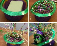 diy mardi gras decorations - Google Search