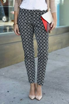 I am very into ankle pants right now and love the pattern.