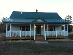 manufactured homes porch | This is the picture of Dark Mobile Home Front Porch with White Wall ...