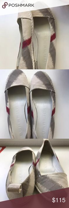 Burberry Flats size 8.5 Worn a handful of times still looks great. Authentic bought from Nordstroms. Size EU 38 1/2 Burberry Shoes Espadrilles