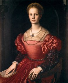 The Portrait of Lucrezia Panciatichi, painting by the Italian artist Agnolo di Cosimo, known as Bronzino, around Winter/Fall Jewelry collection Dolce&Gabbana keys opening hearts Renaissance Portraits, Red Shawl, Beauty In Art, Tribal Women, Red Gowns, Italian Renaissance, Renaissance Gown, National Portrait Gallery, Italian Artist
