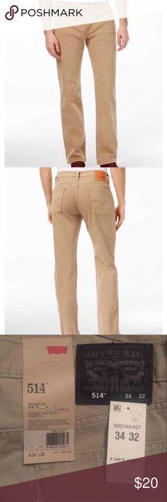 "NWT Levi's Strauss denim khaki jeans Didn't fit my husband. Brand new with tags. 34"" x 32"" Levi's 314 khaki jeans Levi's Jeans Straight"