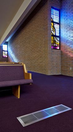 A beautiful shot of SteelCrest registers in the Vermillion Church.