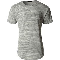LE3NO Mens Hipster Hip Hop Longline Short Sleeve Crewneck T Shirt ($19) ❤ liked on Polyvore featuring men's fashion, men's clothing, men's shirts, men's t-shirts, mens crew neck t shirts, mens short sleeve t shirts, mens double layer t shirt, mens party shirts and mens t shirts