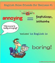 English-Italian FALSE FRIENDS, ep.01: What can really annoy you?