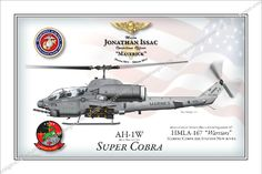Super Cobra 12x18 Fully Personalized $45 www.custommilitaryart.com http://stores.ebay.com/custommilitaryart