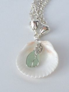 Shell and Sea Glass Treasure From The Sea by kathykaberline, $32.00