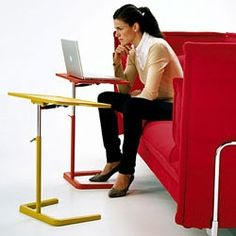 The NesTable Is A Clever Update On The TV Tray. Not Only Is The Height  Adjustable, The Angle Of The Surface Is As Well. It Even Promises To Make  Working ...