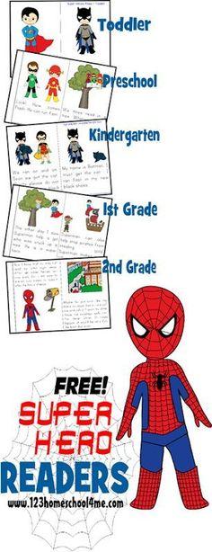 FREE Superhero Themed Readers