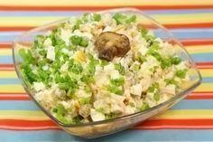 Лучшие кулинарные рецепты: Салат «Зимний с шампиньонами»