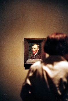 Vincent van Gogh Self-Portrait photo by Gibson Regester Vincent Van Gogh, Van Gogh Self Portrait, You Are My Moon, Arte Van Gogh, Museum Photography, Galerie D'art, Impressionist, Art Museum, Art Gallery