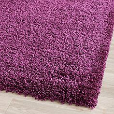 for the bedroom Cozy Solid Purple Shag Rug (4' x 6')