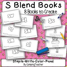 S Blend Books 8 Books to create. Just Staple, Write, Color, and Read!