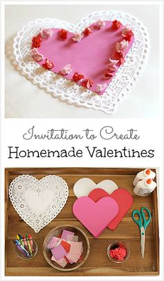 Invitation to Create Homemade Valentines (So easy to set up and great for any age!)~ Buggy and Buddy