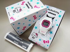 G SHOCK Baby G Hello Kitty Atmos Limited Edition 5600BK Rare Casio Serial Number | eBay