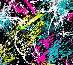 Neon Paint Splatter | Neon Paint Splatter Spandex Image, Graphic, Picture, Photo - Free