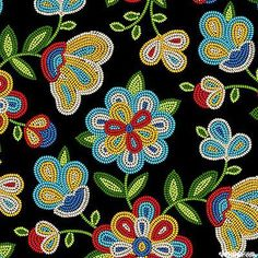 Beaded Native Flowers-Red - This will look awesome on my pipe bag. Indian Beadwork, Native Beadwork, Native American Beadwork, Loom Patterns, Beading Patterns, Embroidery Patterns, Floral Patterns, Beads Pictures, Beadwork Designs