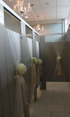Bathroom Stall Decorations, It& all in the details wedding hall decorations Wedding Entrance, Wedding Reception, Our Wedding, Dream Wedding, Wedding Ideas, Wedding Halls, Elegant Wedding, Fall Wedding, Stall Decorations