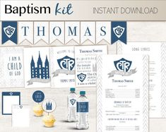 Digital Arts by Recathi on Etsy Lds Baptism Program, Boy Printable, Boy Baptism, Color Calibration, 8th Birthday, Cupcake Toppers, Note Cards, Banner, Messages