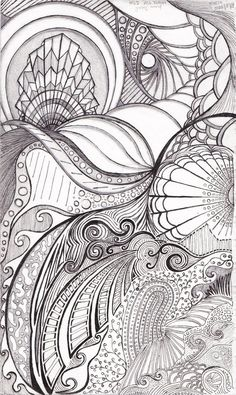 I worked on this for most of the month of august (2010) with the mindset of trying to use organic shapes reminiscent of what you could find in the ocean, while still remaining abstract in my drawin...