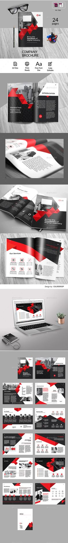 Business Brochure - Corporate Brochures Business Brochure Business Brochure Template. This layout is suitable for any project purpose. Very easy to use and customise. Features: Compatible with Adobe Indesign CS4, CS5, CS5.5 & CS6 A4 Size 24pp Indesign Document .IDML file Included 6 / 12 Content Column Grid Included Trim Line, Bleed and Safety Margins Modern creative clean Design Master Pages Uses free fonts All Photo Only for Preview not include Main File Help File in Main File