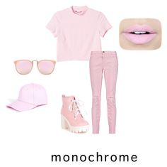 """""""Untitled #129"""" by venusgirlwat ❤ liked on Polyvore featuring Monki, Current/Elliott, Fiebiger and Boohoo"""