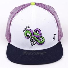 Suicide Squad The Laughing Joker White And Black Snapback Hat Cap  dccomics   hats   fdfc002d39f3