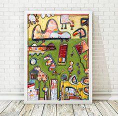 Nursery Art Children's Decor Children's Toys by AthinArtPrint