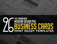 26 Modern Free Business Card Templates – PSD Print Ready Design #branding #businesscardtemplate #businesscards #freebusinesscard #freebie #visitingcards