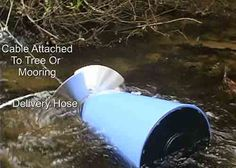 Pump Water From Flowing Streams,Creeks, Or Rivers Without Electricity Or Fuel