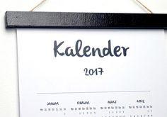 DIY – Kalender 2017 auf einen Blick – Download