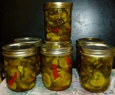 Bread and Butter Pickles from Food.com: My dad's favorite summer treat Hot water bath canning method