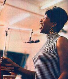 Aretha at Atlantic Studios, c. 1967.
