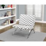 Gray Chevron Modern Accent Chair | Kirklands