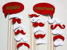 Merry Christmas Photo Booth Props  19 Piece  Holiday by BeBopProps, $30.00