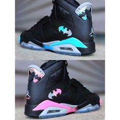Shoes: batman jordans black sneakers high top sneakers air jordan nike... ❤ liked on Polyvore featuring shoes, sneakers, black high tops, hi tops, nike footwear, kohl shoes and black trainers
