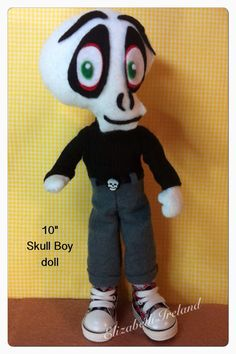 10-inch doll SKULL BOY of Gloomsville Ruby by theStudioGiftShop