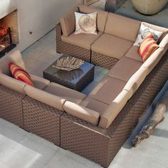 Barcelona Collection Modular Outdoor Furniture From Orchard Supply Hardware