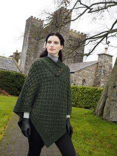 Shawl Poncho by Natallia Kulikovskaya for Arancrafts of Ireland