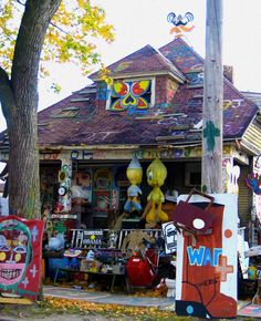 Heidelberg Project Detroit. Very Interesting place discussing consumer culture, post industrialization and urban decay.