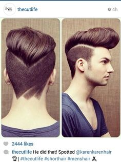 Short Design Men's Haircut