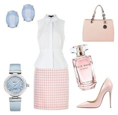 """""""Pastel Spring"""" by danute-jarmolovic-tumalaviciene on Polyvore featuring MICHAEL Michael Kors, Chanel, Christian Louboutin, Alexander Wang, OMEGA, Cara, Elie Saab, women's clothing, women and female"""