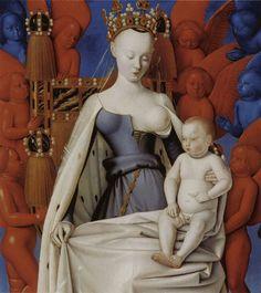 """Jean Fouquet, """"Vierge à l'enfant"""", 1450"""