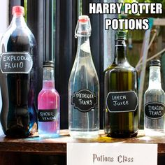 Create potions to decorate your Harry Potter party!